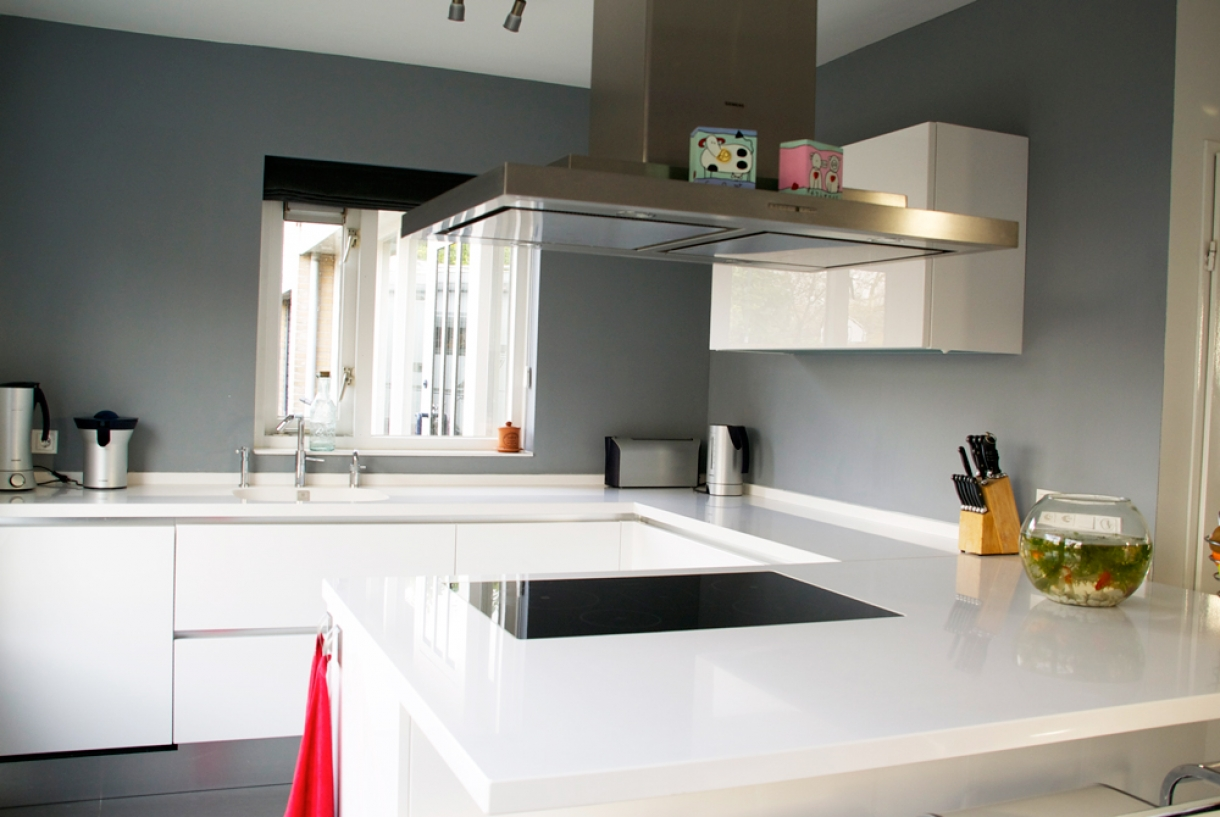 Greeploze moderne keuken, Odijk - Piet de Wit Keukens in Zeist