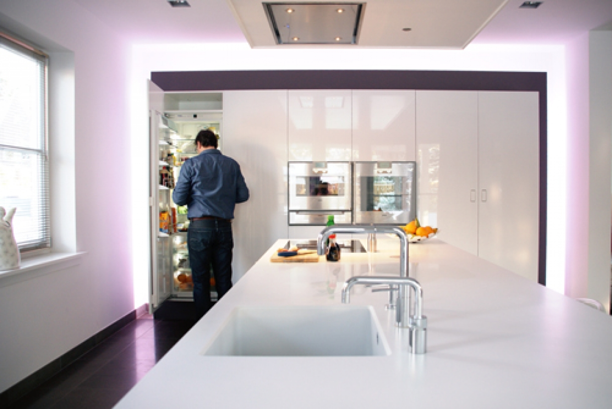 Hoogglans keuken, Zeist - Piet de Wit Keukens in Zeist
